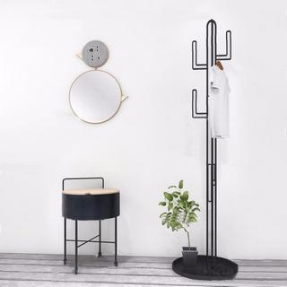 现代简约,衣架,柜子组合,植物盆栽