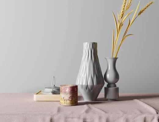 东南亚摆件组合, 花瓶茶壶摆件组合, 摆件组合, 花瓶摆件组合, 茶壶摆件组合
