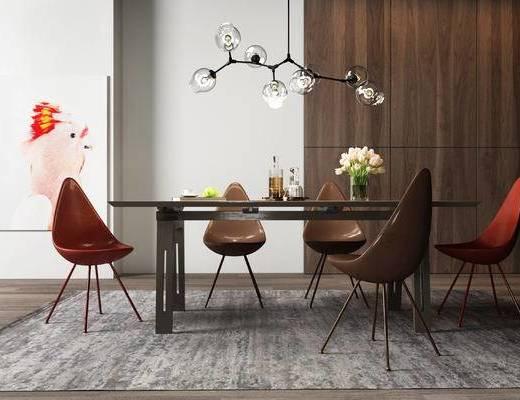 北歐餐桌椅, 餐桌椅, 桌椅組合