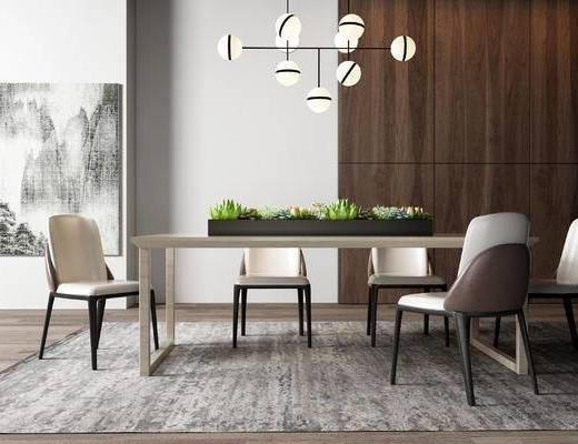 后現代餐桌椅, 餐桌椅, 桌椅組合