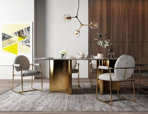 簡歐餐桌椅, 餐桌椅, 桌椅組合