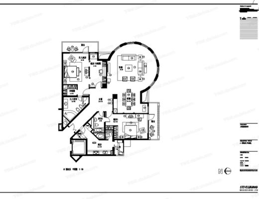 CAD, 施工图, 家装, 室内, 样板房, 平面图, 立面图, 大样, 节点