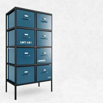 下得乐品牌模型库, 现代, 边柜
