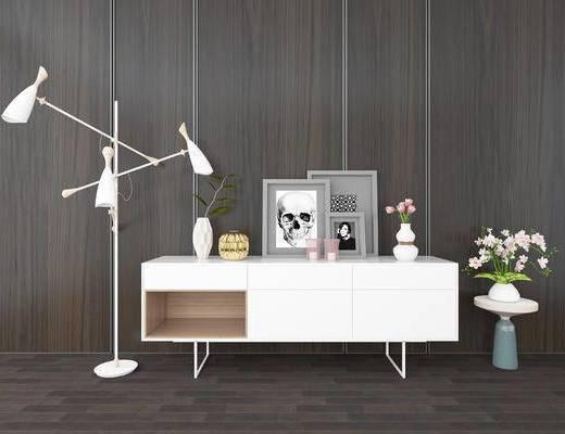 装饰柜, 落地灯, 现代