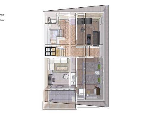 日式小屋, 日式卧室, 日式客厅, 客厅, 卧室
