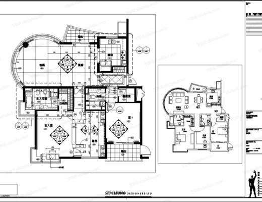 CAD, 施工图, 家装, 家居, 室内施工图, 平面图, 立面图, 大样, 节点, 天花图