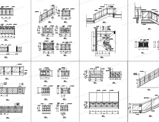 CAD, 平面, 立面, 大样图, 柱子大样, 壁炉大样