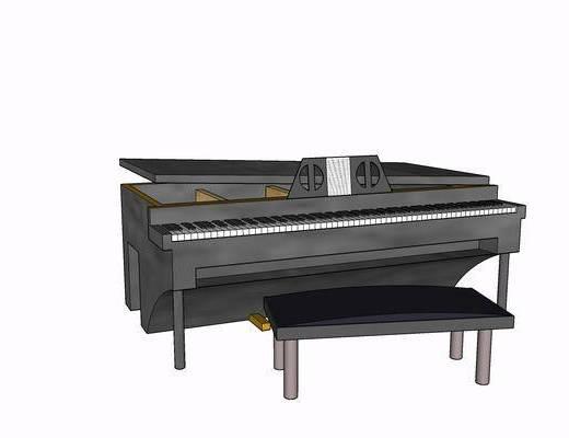 乐器, 钢琴, 装饰, 现代