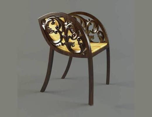 单椅, 美式