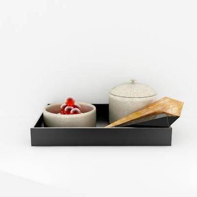 摆件组合, 陶瓷器皿, 现代