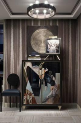 玄关柜摆件组合, 新中式