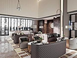 现代酒店休息区休闲区3D模型