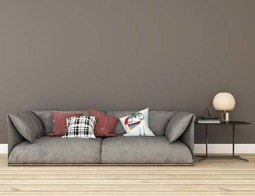 双人沙发, 边几, 现代