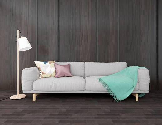 落地灯, 双人沙发, 现代