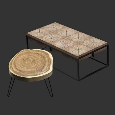 工业风茶几, 工业风凳子, 凳子, 茶几