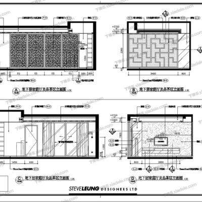 CAD, 大师, 施工图, 梁志天, 平面图, 立面图, 节点, 大样, 别墅, 家装, 室内