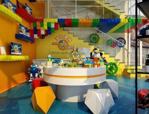 玩具, 学校, 桌椅组合