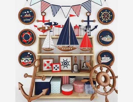 地中海, 玩具, 陈设品组合, 儿童玩具