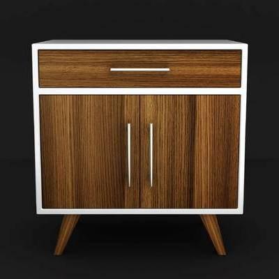 现代简约, 床头柜, 柜子, 现代柜, 下得乐3888套模型合辑