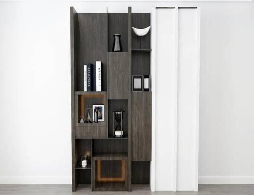 摆件组合, 置物柜, 现代