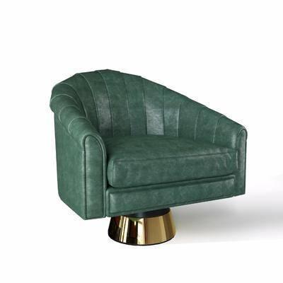 后现代沙发椅, 单椅, 椅子