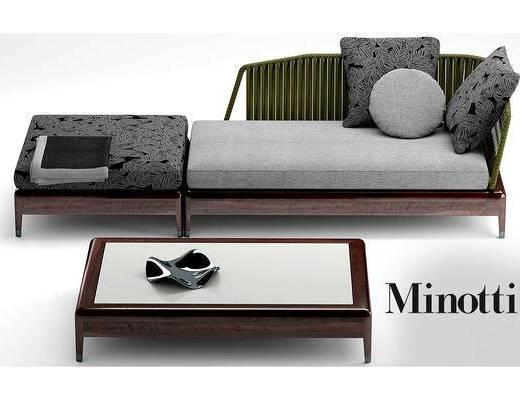 新中式, 沙发, 桌几, 茶几, 简约