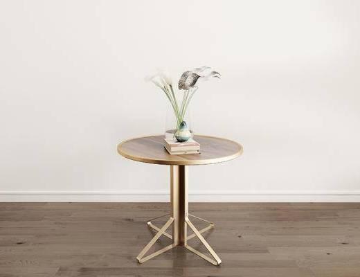 摆件组合, 圆几, 花瓶, 现代