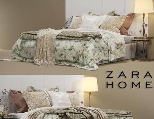 美式, 双人床, 床