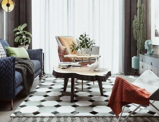 北欧客厅, 客厅, 沙发组合