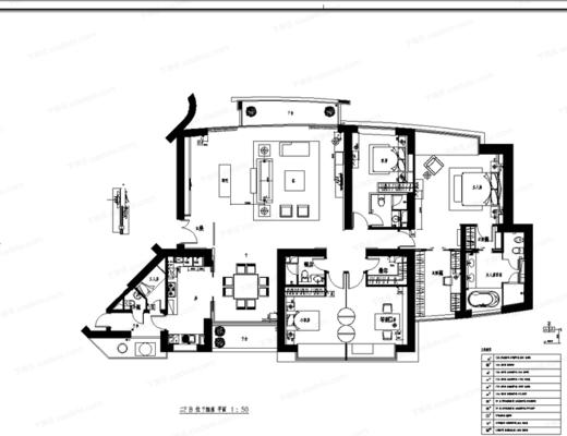 CAD, 施工图, 大师, 家装, 室内, 平面图, 立面图, 实景图, 下得乐3888套模型合辑