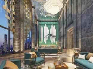 新中式酒店大堂大厅洽谈区3D模型