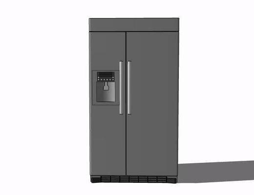 现代, 商务, 冰箱, 摆件