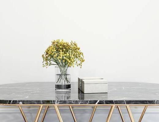 摆件组合, 花瓶花卉, 现代