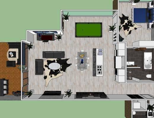 家居客厅, 客厅