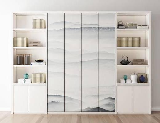 书柜, 新中式