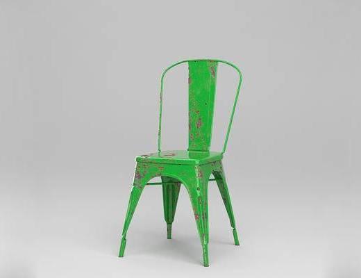 法国Tolix, 金属座椅, 现代简约, 椅子