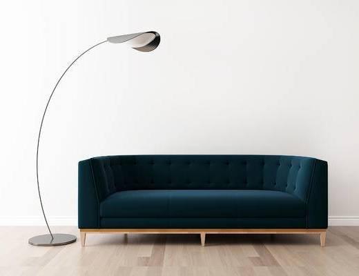 沙发组合, 多人沙发, 落地灯, 后现代