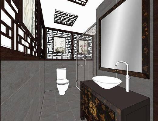 中式卫生间, 卫生间