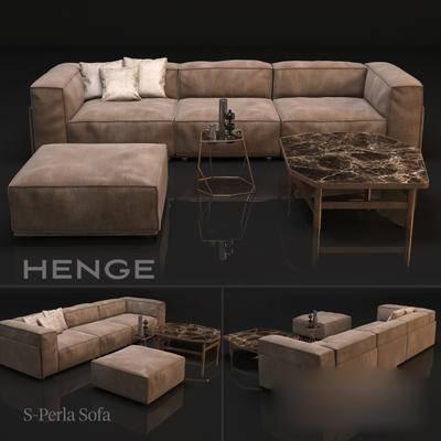 美式, 现代, 沙发, 茶几