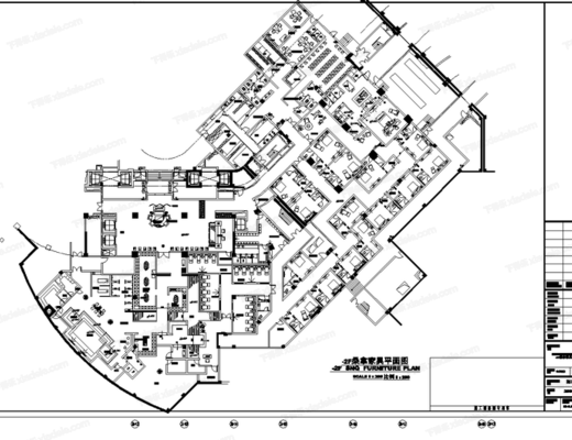 CAD, 施工图, 工装, 桑拿, 酒店, 平面, 立面