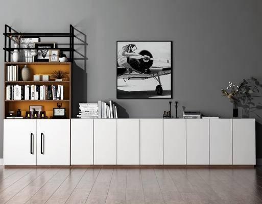 书柜, 壁画, 现代