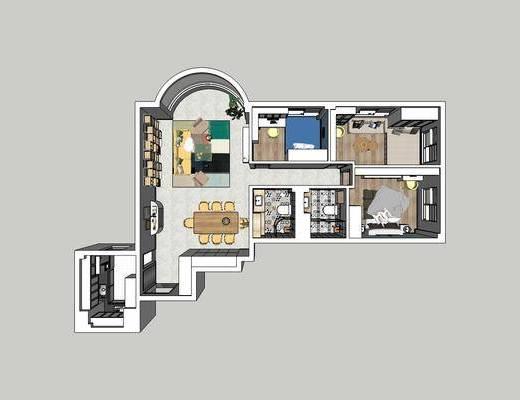 北欧家装, 北欧卧室, 卧室, 客厅餐厅, 北欧客厅