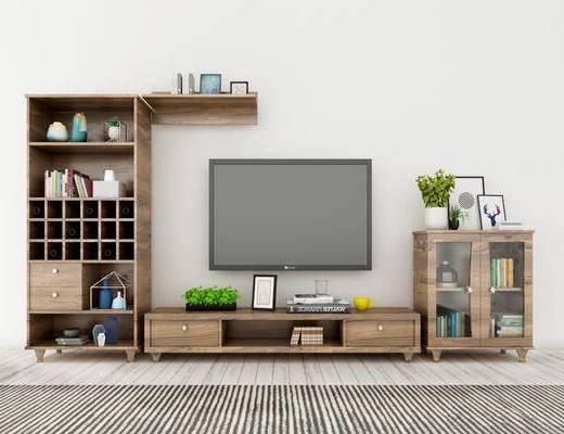 电视柜, 置物柜, 现代