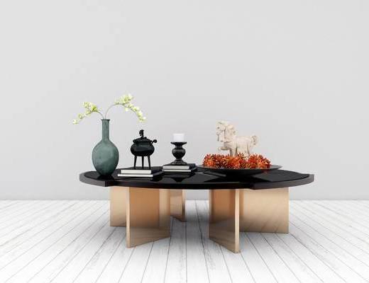 茶几, 花瓶, 新中式