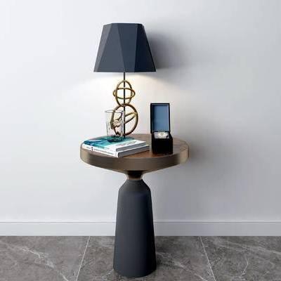 摆件组合, 边几, 台灯, 现代