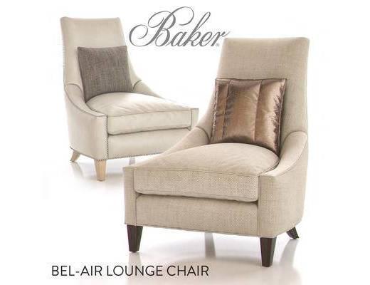 美式简约, 椅子, 单椅, 意大利baker