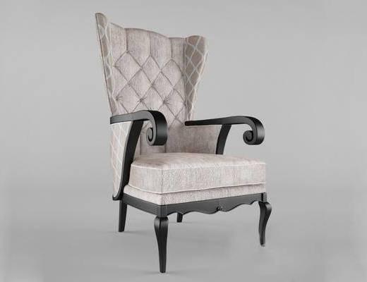美式, 单椅, 古典椅子, 单人椅