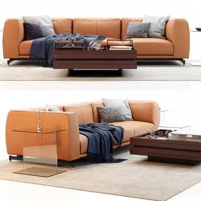 多人沙发, 茶几, 北欧