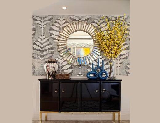 美式古典, 柜台组合, 镜子, 陈设品组合, 下得乐3888套模型合辑
