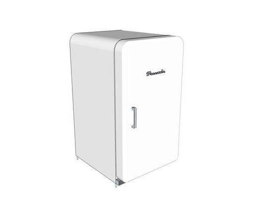 白色, 冰箱, 装饰, 摆件, 现代